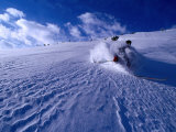 Skier Descending in Powder Snow, St. Anton Am Arlberg, Vorarlberg, Austria Photographic Print by Christian Aslund