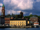 Harbour and City Buildings, Helsingborg, Skane, Sweden Photographic Print by Anders Blomqvist