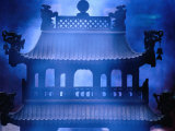 Shrine Clouded in Incense Smoke, Baiyun Guan (White Cloud Temple) Bejing, China Photographic Print by Phil Weymouth