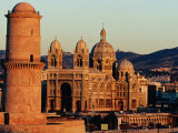 Nouvelle Cathedrale and Ancienne Cathedrale De La Major, Marseille, France Photographic Print by Jean-Bernard Carillet