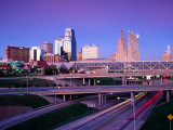 City Skyline with Freeway in Foreground, Kansas City, USA Photographic Print by Richard Cummins