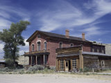 Meade Hotel and Skinner's Saloon, Bannack Ghost Town, Montana, USA Photographic Print