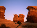 Rock Formations in Devil's Garden, Grand Staircase-Escalante National Monument, Utah, USA Photographic Print by Mark Newman
