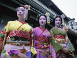 Maiko Girls, Kyoto, Japan Photographic Print