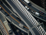Aerial View of Freeway Tokyo, Kanto, Japan Photographic Print by John Hay