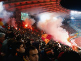 Flares in Curva Sud Stand at Champions League Game Stadio Olimpico, Rome, Italy Photographic Print by Martin Moos