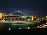 Sydney Harbour Bridge at Dusk from the Botanic Gardens, Sydney, Australia Photographic Print by Greg Elms