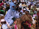 Regiment on Horseback During Durbar Festival of Kano, Kano, Nigeria Fotografisk tryk af Jane Sweeney