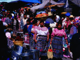 Busy Street on Market Day, San Francisco El Alto, Quetzaltenango, Guatemala Photographic Print by Richard I'Anson