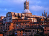 View Across Rooftops to the Gothic Cathedral, Siena, Tuscany, Italy Photographic Print by Glenn Beanland