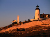 Sunset Over Pemaquid Lighthouse Built in 1827, Maine, USA Photographic Print by Stephen Saks