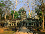 West Entrance of Ta Prohm Temple, Angkor, Siem Reap, Cambodia Photographic Print by Anders Blomqvist