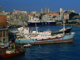 Ships in Port, Genova, Liguria, Italy Photographic Print by Dallas Stribley
