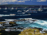 Yachts and Spectator Craft Sailing in Sydney Harbour, Sydney, Australia Photographic Print by Barnett Ross