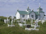 Russian Orthodox Church and Graveyard Photographic Print