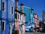 Colourful Island Houses, Burano, Veneto, Italy Photographic Print by Roberto Gerometta