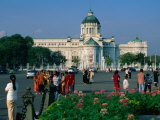 People in Front of National Assembly Hall, Bangkok, Thailand Photographic Print by Anders Blomqvist