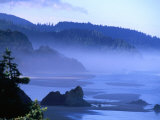 Arcadia Beach Coastline from Silver Point, Oregon, USA Photographic Print by Roberto Gerometta