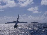 Sailboats, Coral Bay, St. John, Caribbean Sea Photographic Print by Jim Schwabel
