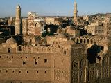 Buildings of Old Caravanassi, San'a, Yemen Photographic Print by Bethune Carmichael