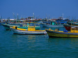 Colorful Fishing Boats, Alexandria, Egypt Photographic Print by Inga Spence