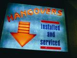 Humorous Bar Sign in Bangkok Fotografisk tryk af Paul Chesley
