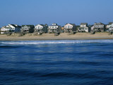 Beachfront Homes, Atlantic, Nags Head Photographic Print by Barry Winiker