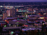 City from Cliff Avenue, Spokane, USA Photographic Print by John Elk III