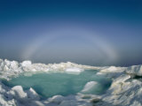 A Strange Halo Appears on the Horizon of the Icy Arctic Environment Photographic Print by Norbert Rosing
