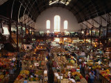 Interior of Main Market, Guadalajara, Mexico Photographic Print by Peter Ptschelinzew