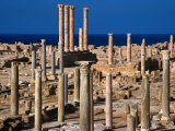 The Ancient City of Sabratha and the Temple of Liber Pater, Sabratha, Libya Photographie par Patrick Syder