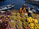 Vendor Selling Fruit at the Fish Market, Tripoli, Tarabulus, Libya Photographic Print by Doug McKinlay