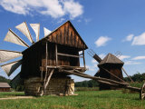 Windmill from Constanta County at Museum of Folk Civilisation in Astra, Sibiu, Romania, Photographic Print by Diana Mayfield