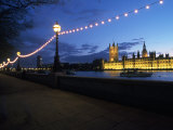 Parliament & Thames River, London, UK Fotografisk tryk af Dan Gair