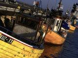 Fishing Harbor, Hel Peninsula, Pomerania, Poland Stampa fotografica di Walter Bibikow