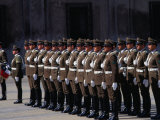 Changing of Palace Guard at Plaza De La Constitution, Santiago, Chile Photographic Print by Oliver Strewe