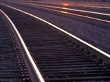 Railroad Tracks Photographic Print by Mitch Diamond
