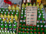 Bottles of Drink for Sale at the Asa-Ichi or Morning Market, Kochi, Shikoku, Japan, Photographic Print by Oliver Strewe