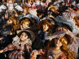 Dolls for Sale in Street Market, Catania, Sicily, Italy Photographic Print by Dallas Stribley