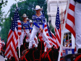 Women on Horseback in Independence Day Parade, Washington DC, USA Photographic Print by Richard I'Anson