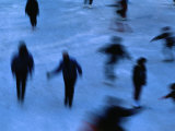 Ice Skaters in Central Park, New York City, New York, USA Photographic Print by Ray Laskowitz