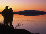 Silhouette of Couple, Turnagain Arm Anchorage, AK Photographic Print by Danny Daniels