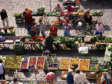 Food Market in Central Square, Freising, Germany Photographic Print by Wayne Walton