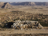 Aerial View of Shibam with its Many Mud-Brick Skyscrapers, Some of Which are Centuries Old Photographic Print by Thomas J. Abercrombie