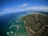 City View, Diamond Head Crater, Honolulu, HI Photographic Print by Walter Bibikow