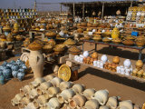 Huge Array of Locally Made Pots and Ceramics on the Tripoli to Zliten Road, Libya Photographic Print by Patrick Syder