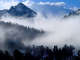 Clouds Surrounding White Cloud Mountains, USA Photographic Print by Woods Wheatcroft