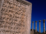 Latin Inscriptions on Tablets Found at the Old Forum of Leptis Magna, Leptis Magna, Libya Photographic Print by Doug McKinlay