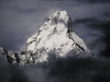 View of Ama Dablam Wreathed in Clouds Papier Photo par Anne Keiser