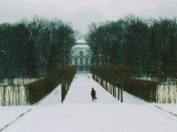 Snowy Entranceway to an Estate Near Saint Petersburg Photographic Print by Cotton Coulson